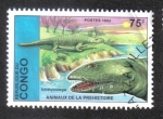 Sellos del Mundo : Africa : República_del_Congo : Animales Prehistoricos