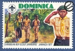 Sellos del Mundo : America : Dominica : Jamboree de Scouts del Caribe en Jamaica