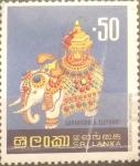 Sellos de Asia - Sri Lanka -  Intercambio 0,45 usd 50 cents. 1977