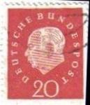 Sellos del Mundo : Europa : Alemania : ALEMANIA 1959 Michel 304 SELLOS SERIE BASICA USADO