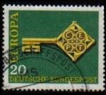 Sellos del Mundo : Europa : Alemania : ALEMANIA 1968 Scott 983 Sello Europa 20 usado Michel 559 Yvert423 Allemagne Duitsland Germania Germa
