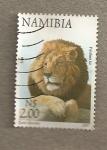 Sellos del Mundo : Africa : Namibia : León