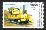 Sellos del Mundo : Africa : Guinea : Old Locomotives