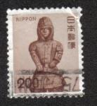 Sellos del Mundo : Asia : Japón : Haniwa (guerrero estatua)