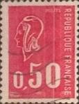 Sellos del Mundo : Europa : Francia : Intercambio 0,20 usd 50 cents. 1971