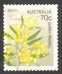Sellos de Oceania - Australia -  Flor amarilla