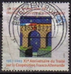 Sellos de Europa - Alemania -  ALEMANIA 2003 Scott 2224 Sello 50 Aniversario Tratado con Francia 55 Usado Michel 2311 Allemagne Dui