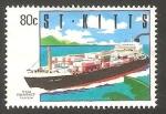 Sellos del Mundo : America : San_Cristobal : 720 - Barco CGM Provence