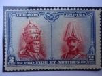 Sellos del Mundo : Europa : España : Ed:ES 393 - Pío XI y  Alfonso XIII - A favor da las Catacumbas de San Damasco - Sello para Toledo