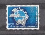 Sellos de Asia - India -  Centenario de la Unión Postal Universal