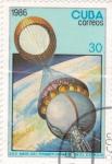Sellos de America - Cuba -  aeronáutica-XXV aniversario del primer hombre en el espacio