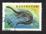 Sellos del Mundo : Asia : Kazajistán : Animales Prehistoricos
