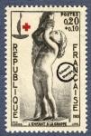 Sellos de Europa - Francia -  Pierre Jean David - Niño con las uvas