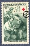 Sellos del Mundo : Europa : Francia :  Enfermera de ambulancia (1859)