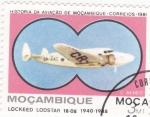 Sellos de Africa - Mozambique -  LOCKEED LODSTAR 18-08-historia de la aviación de Mozambique