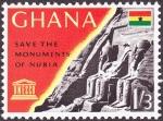 Sellos del Mundo : Africa : Ghana : EGIPTO - Monumentos de Nubia, desde Abu Simbel hasta Philae