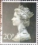 Sellos de Europa - Reino Unido -  Intercambio 0,20 usd 20 p. 1970