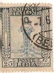 Sellos del Mundo : Africa : Libia : Colonie Italiane / Poste Libia / 25 cent.