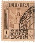 Sellos del Mundo : Africa : Libia : Libia Colonie Italiane poste / 1 Lira