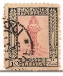 Sellos del Mundo : Africa : Libia : Colonie italiane / poste Libia / 10 cent