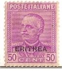 Sellos del Mundo : Africa : Eritrea : Poste Italiane / Eritrea / 50 cent / colonia italiana