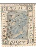 Sellos del Mundo : Europa : Italia : Bollo / italiano postale / 20 cent / colonias italianas