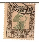 Sellos de Africa - Libia -  Libia / colonia italiana / 5 cent