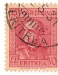Sellos del Mundo : Africa : Eritrea : Poste italiane / Colonias italianas / 75 cent / Eritrea