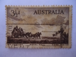 Sellos de Oceania - Australia -  Postal Coach Pioneers.