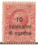 Sellos del Mundo : Europa : Italia : poste italiane / 10 centesimi di corona / Colonias italianas