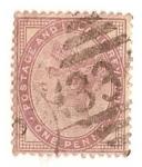 Sellos del Mundo : Europa : Reino_Unido : One Penny lila / Queen Victoria