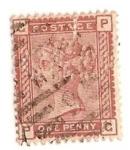 Sellos del Mundo : Europa : Reino_Unido : penny rojo veneciano / Queen Victoria