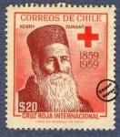 Sellos de America - Chile -  Cruz Roja 1959 - Henry Dunant