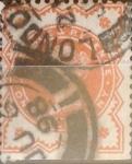 Sellos de Europa - Reino Unido -  Intercambio 1,00 usd 1/2 p. 1887