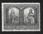 Sellos de Europa - Vaticano -  Mieszko I y la Reina
