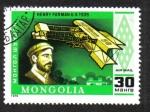 Sellos de Asia - Mongolia -  Henry Farman and his Plane (1909)
