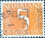 Sellos de Europa - Holanda -  Intercambio 0,20 usd 5 cent. 1953