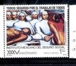 Sellos de America - México -  XXXV Aniversario del Instituto Mexicano del Seguro Social