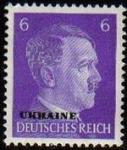 Sellos del Mundo : Europa : Alemania : DEUTSCHES REICH 1941 Scott510 SELLO ADOLF HITLER NUEVO ALEMANIA Michel785 Ukraine