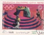 Sellos de Europa - Yemen -  teatro nacional- Munich Olimpiada-72