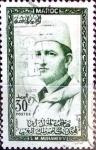 Sellos de Africa - Marruecos -  Intercambio 0,20 usd 30 francos  1957