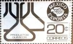 Sellos de America - México -  Intercambio nf4b 0,20 usd 20 cent. 1976