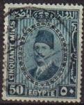 Sellos de Africa - Egipto -  EGIPTO EGYPTO 1927 Scott 145 Sello Personajes Rey Fuad Usado
