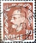 Sellos del Mundo : Europa : Noruega : Intercambio 0,40 usd 80 ore 1950