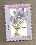 Sellos del Mundo : Asia : Turquía : Flor Croccus biflora