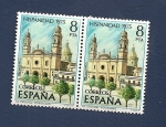 Sellos de Europa - España -  Hispanidad -  La Catedral - Montevideo