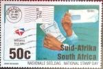 Sellos del Mundo : Africa : Sudáfrica :  Intercambio pxg 0,50 usd 50 cent. 1994