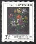 Sellos del Mundo : Europa : Checoslovaquia : J.Rudolf Bys: Kytice s narcisy a tulipány 1708-1713