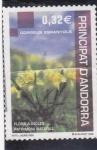 Sellos de Europa - Andorra -  flors a incles patrimoni natural
