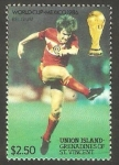 Sellos de America - San Vicente y las Granadinas -  Isla Union - Mundial de fútbol México 86